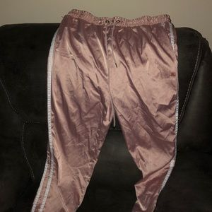 Pink and white joggers